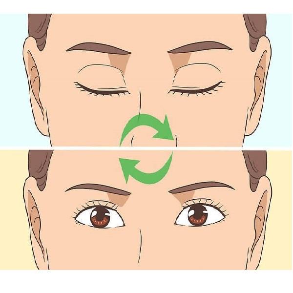 درمان افتادگی پلک و درشت شدن چشم ها با ورزش